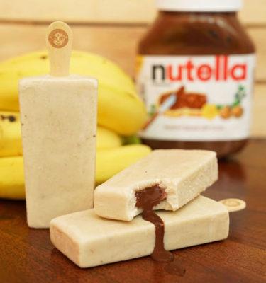Banana Nutella Paleta Icepop