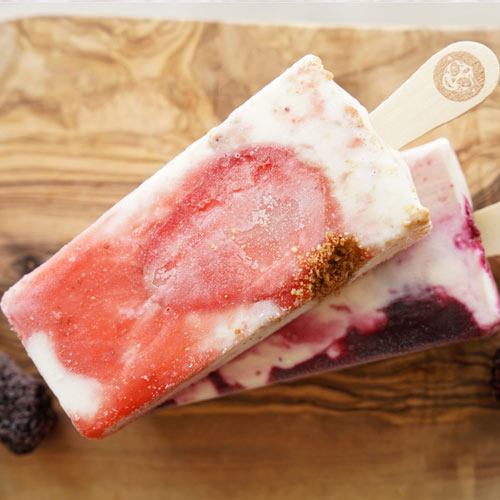 Strawberry Cheesecake Paleta Icepop