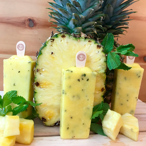 Pineapple and mint Paleta icepop